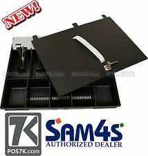 SAM4S Cash Drawer Insert Money Tray 57 - 5 Bills and 5 Coins with LOCKING LID
