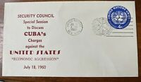 UN Issue Special Event Cover: Complaint Against USA: Printed w/ Postage 1960