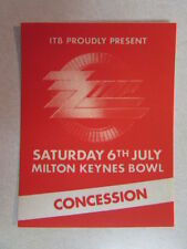 Zz Top Recycler Cloth Backstage Pass Sat July 6Th Concession Milton Keynes Bowl