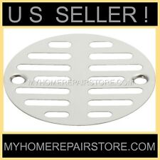 """FREE S&H! CHROME PLATED 3-1/2"""" 2 SCREW SHOWER /FLOOR DRAIN STRAINER SCREEN COVER"""