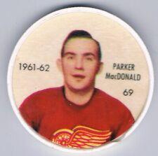 1961-62 SHIRRIFF - SALADA COIN #60 PARKER MacDONALD- Detroit Red Wings