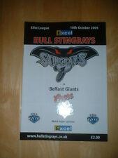 2009/10 Hull Stingrays V Belfast Giants Hockey su ghiaccio