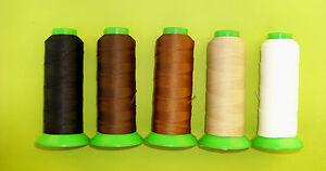 Polyester Garn,  Nm 40/3, 1200 m, für Lederverarbeitung, Sattlergarn, 7 Farben
