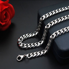 Man Women 316L Stainless Steel 2mm/3mm/4mm/5mm Silver Cuban Curb Chain Necklace