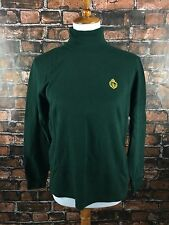Lauren Ralph Lauren SZ M Classic Green Long Sleeve Turtleneck Top Emblem Vintage