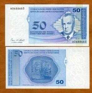 Bosnie BOSNIA HERZEGOVINA Billet 50 Convertible PFENIGA ND 1998 NEUF UNC