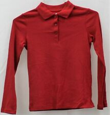 Chaps Girls Approved Schoolwear Red Long Sleeve Shirt Xl(16) Regular