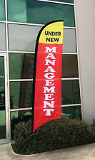 3.5m Under New Management Flag / Outdoor Advertising Banner (Excl. Pole & Base)
