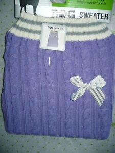 Walmart Brand Dog Sweater Purple With Bow Medium NEW