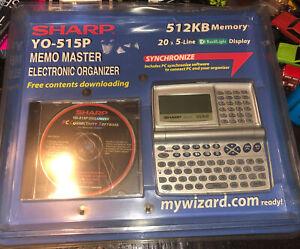 """Sharp YO-515P Electronic Memo Master Organizer """"New Sealed"""""""