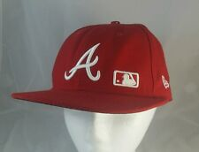 Atlanta Braves Baseball Hat - Red - New Era - 59FIFTY - FITTED 7 1/4 MLB USA