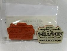 Stampin Up MAGICAL SEASON stamp single clear mount NEW Christmas Hope Peace Joy