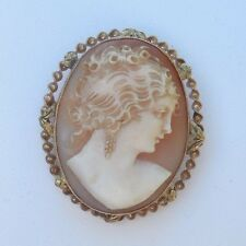 Antique 10kt Cameo Pin/Pendant