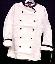 Dickies Chef Coat Size 38 White Executive Stripe Trim Cw070303Pas Disc Style New
