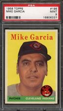 1958 Topps MIKE GARCIA #196 Cleveland Indians - PSA 9 -- HIGHEST GRADED
