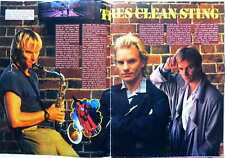 STING => 2 pages 1986 french CLIPPING / COUPURE DE PRESSE