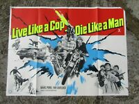 Vintage Movie poster - Original - Live like a cop , die  - 101 x 75 cm - 1970''s