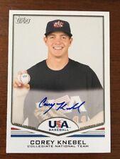 COREY KNEBEL 2011 TOPPS USA AUTOGRAPHED SIGNED AUTO BASEBALL CARD USA-A10
