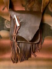 Mountain Man Possibles Bag with Antler Tip and Strap Closure (#342)