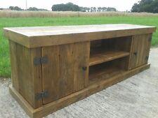 Reclaimed solid wood 2 Door Tv Media Unit Solid Wood Furniture Industrial style