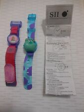 2001 Disney Pixar Monsters Inc SULLEY HEAD FACE & BOO IN COSTUME Digital Watches