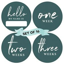 Peachly Baby Monthly Milestone Stickers (Set of 16) - Birth to 12 Months | 4 .