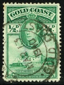 SG 120 GOLD COAST 1938 - HALFPENNY GREEN (perf. 12) - USED