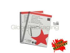 10 x A4 Wirebound NOTEBOOK RIGATA & margine * 24 H consegna *