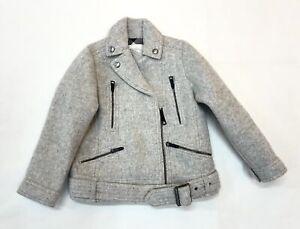 Burberry Boy Coat Mini Pearlasdean Light Grey Melange 4 Year