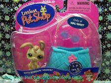 Littlest Pet Shop Walmart Excl. Flop Ear BUNNY w/Carrier lot #313 Retired NIB!