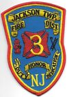 """Jackson Township  Fire District - 3, New Jersey (3.75"""" x 5.25"""" size) fire patch"""