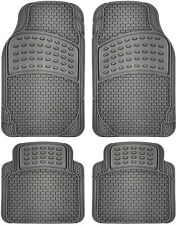 Floor Mats for SUVs Trucks Vans 4pc Set All Weather Rubber Tactical Fit Grey
