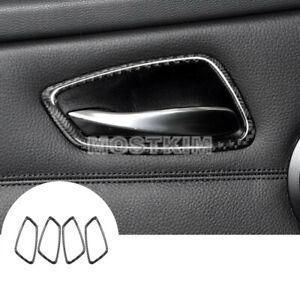 Carbon Fiber Car Door Handle Frame Trim Cover For BMW 3 Series E90 E92 E93
