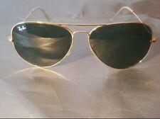Ray Ban RB3026 Aviator Unisex Sunglasses 62MM Gold Frame/Green Gradient Lens