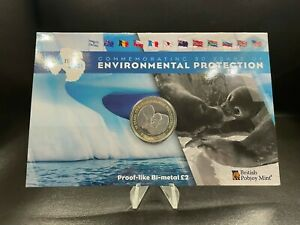2021 Environmental Protection British Antarctic Territory £2 Two Pounds