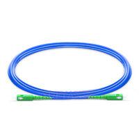 50m SC APC to SC APC Simplex Single Mode Armored PVC Fiber Patch Cord Cable