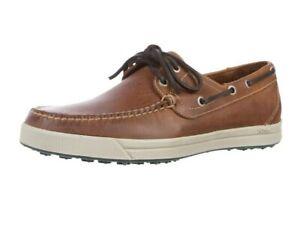 Martin Dingman Kennedy All Sport Men's Boat Deck Shoes Burnt Cedar Brown Leather