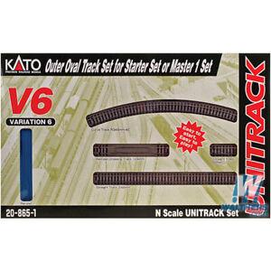 NEW Kato Unitrack Outer Oval Track V6 Set N Scale FREE US SHIP