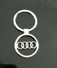 1* 3D Car Logos Audi Titanium Key Chain Car Keychain Ring Keyfob Metal Keyrings