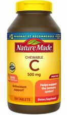 Nature Made Vitamin C 500mg Chewable Tablet Immune Health  Support 150 Tablets