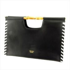 80fe66aa95 Samantha Thavasa bag Hand bag Black White leather Woman Authentic Used Q574
