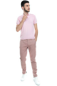 RRP €185 SIVIGLIA WHITE Chino Trousers Size 32 Stretch Patterned Made in Italy