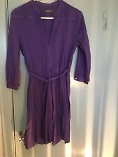 Marcs purple cotton dress with tie in size 6
