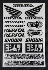 Sponsors Honda Premium aufkleber set 23x34 cm.15 stickers repsol showa yoshimura