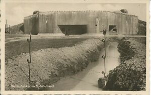AK Bunker im Sudetenland (1) nicht gelaufen, WK II