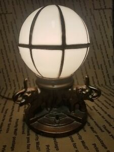 Antique Nuart Art Deco Elephant Figural Globe Lamp; Stunning! WORKS!