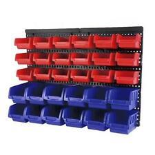 30 Bin Tubs Wall Mounted Garage Shed Shops Nails Screws Organiser Storage Rack
