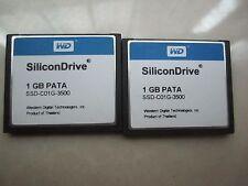 WD SiliconDrive 1GB PATA  Industrial Temp SSD-C01G-3500 CF CARD