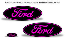 Oval Badge Emblem Overlay Decals For Ford F-250 F-350 F-450 2017-2018 PINK