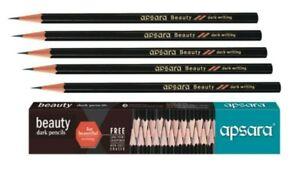 10x Apsara BEAUTY Dark Pencil | free sharpener & eraser | Superior quality